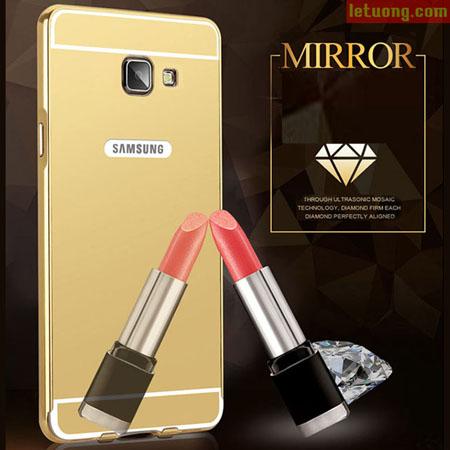 Ốp lưng Galaxy A7 2016 LT Armor Metal 24K mạ gương bóng bảy