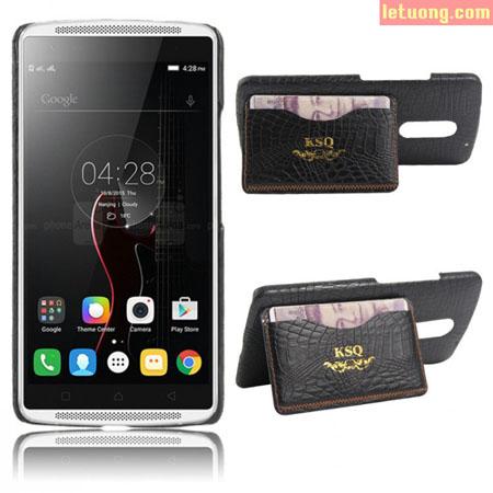 Ốp lưng Lenovo Vibe X3 KSQ Wallet lưng vân cá sấu sang trọng