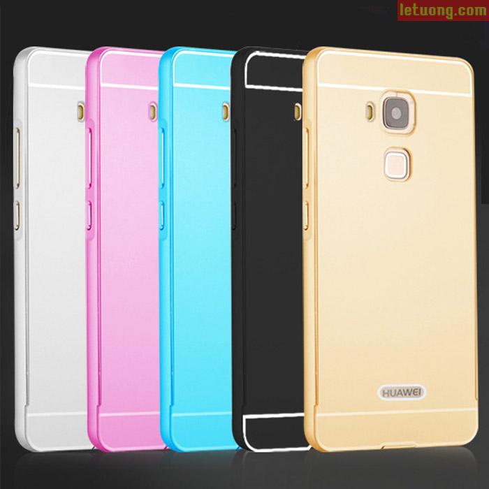 Ốp lưng Huawei GR5 LT Armor Metal viền nhôm lưng như Iphone 6