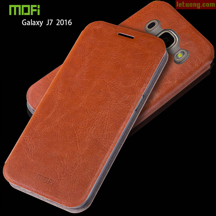Bao da Samsung J7 2016 Mofi Leather mỏng gọn, chống sốc tốt