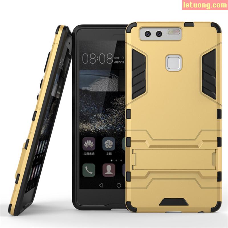Ốp lưng Huawei P9 LT Iron Man, mạnh mẽ, chân chống xem video