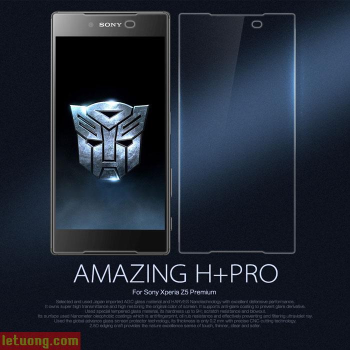Kính cường lực Sony Z5 Premium Nillkin H+ Pro mỏng 0,2mm