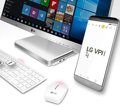 Người dùng đang sở hữu smartphone G5, G4, và V10 của LG có thể tải về ứng dụng LG VPInput để điều khiển điện thoại của mình từ máy tính Windows hoặc Mac.