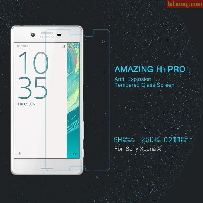 Kính cường lực Sony Xperia X Pro Nillkin Amazing H+ Pro 0,2mm