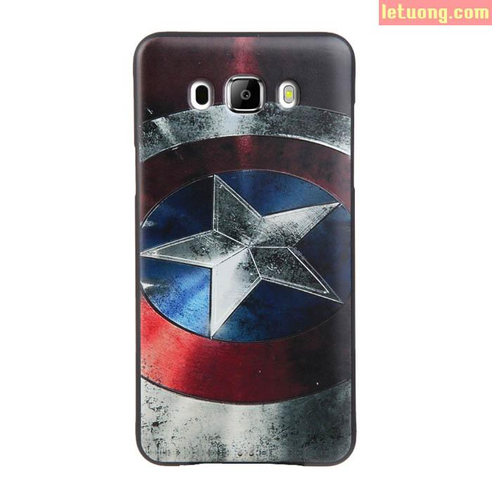 Ốp lưng Galaxy J7 2016 Mycolor Avengers 3D + Kính cường lực