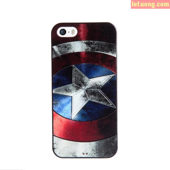 Ốp lưng Iphone SE/5/5S Mycolor Avengers 3D + Kính cường lực