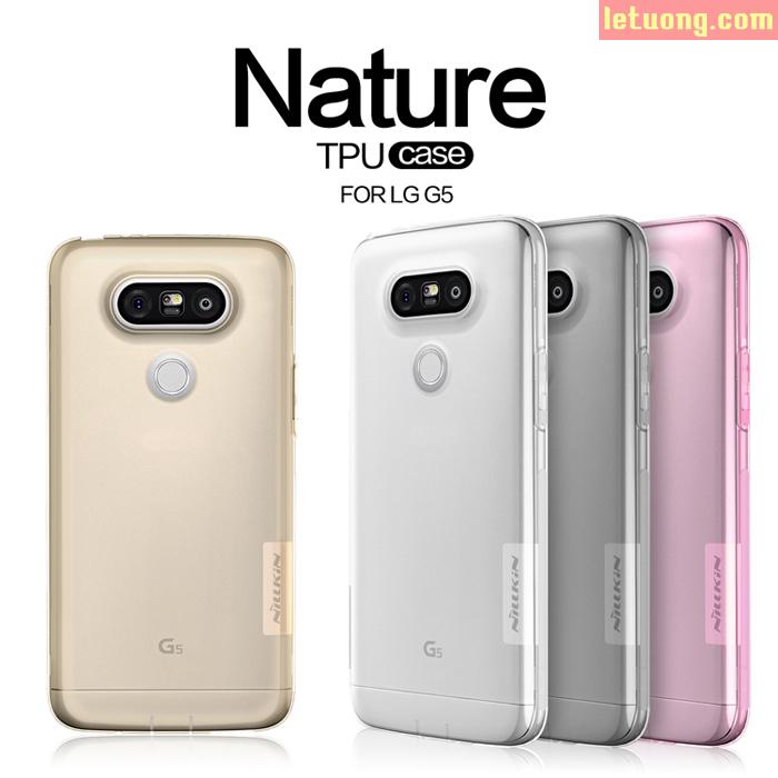 Ốp lưng LG g5 Nillkin Nature nhựa mềm TPU trong suốt 0,6mm