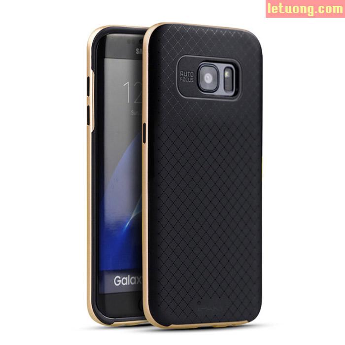 Ốp lưng Galaxy S7 Edge Ipaky Case 2 lớp lưng Caro tuyệt đẹp