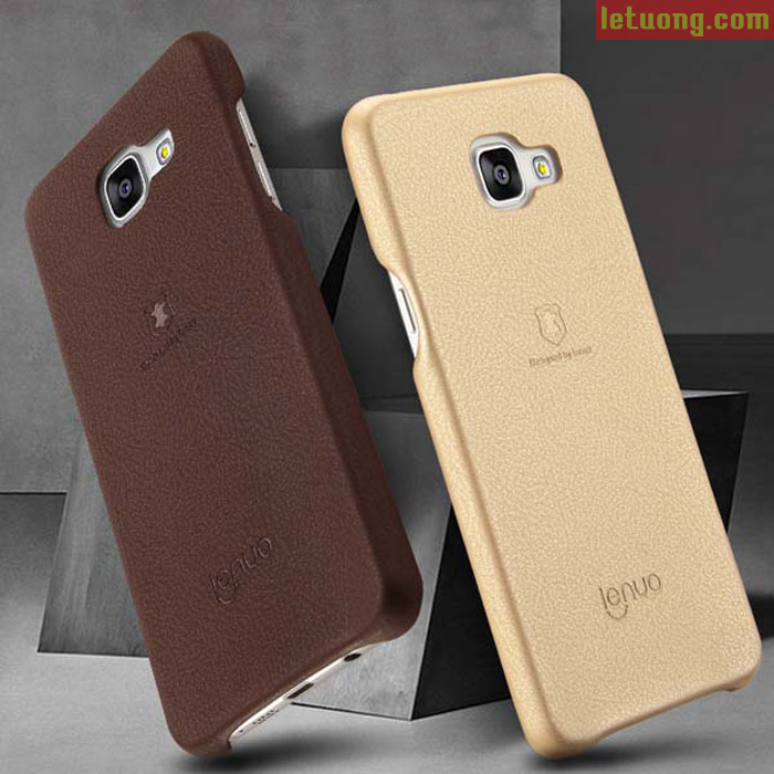 Ốp lưng Galaxy A7 2016 Lenuo Leather lưng da + kính cường lực