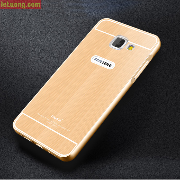 Ốp lưng Galaxy A9 Pro Zhonge Metal viền nhôm lưng dạng nhôm phay