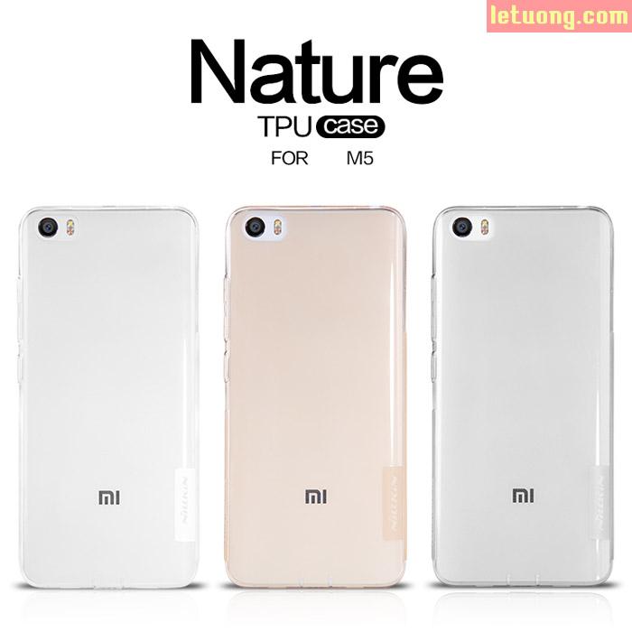 Ôp lưng Xiaomi Mi 5 Nillkin Nature trong suốt nhựa mềm 0,6mm