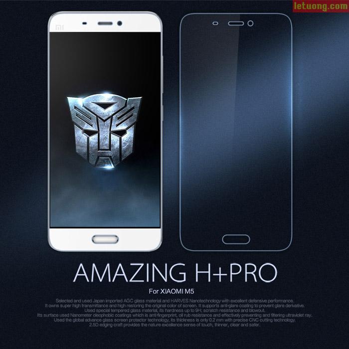 Kính cường lực Xiaomi Mi 5 Nillkin Amazing H+ Pro Mỏng 0,2mm