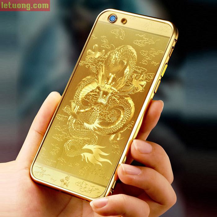 Ốp lưng Iphone 6 Plus/6S Plus LT Metal In Rồng 3D sang trọng