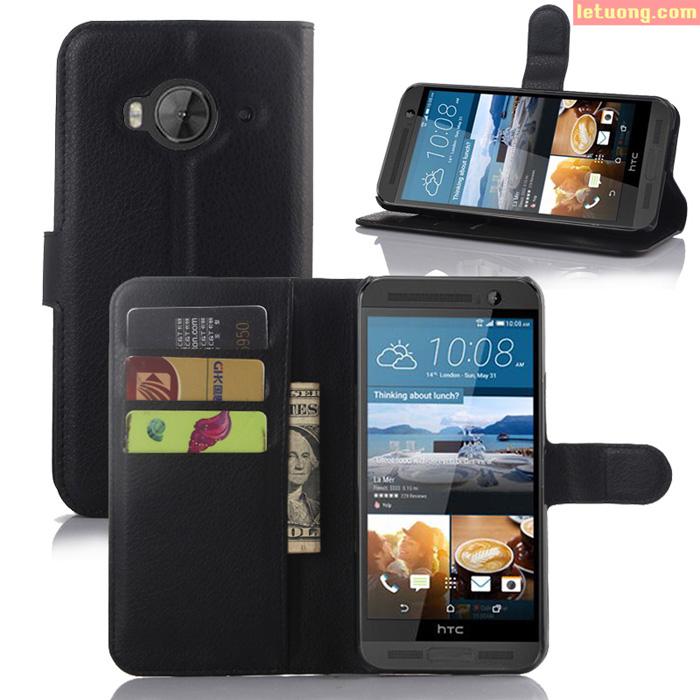 Bao da HTC One Me LT Flip Wallet ngăn ví tiện lợi sang trọng