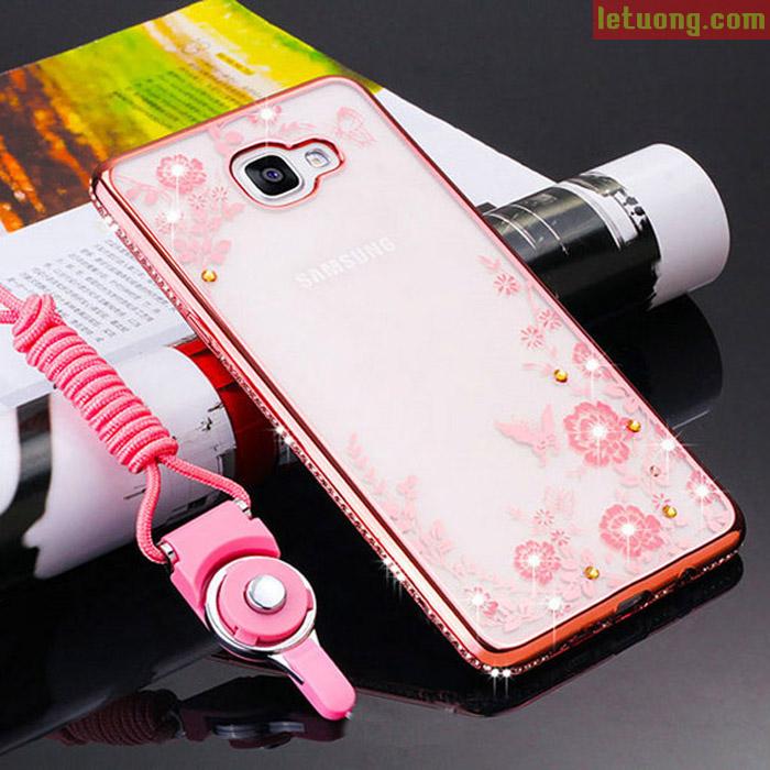 Ốp lưng Galaxy A9 Pro LT TPU Case nhựa mềm đính đá thời trang