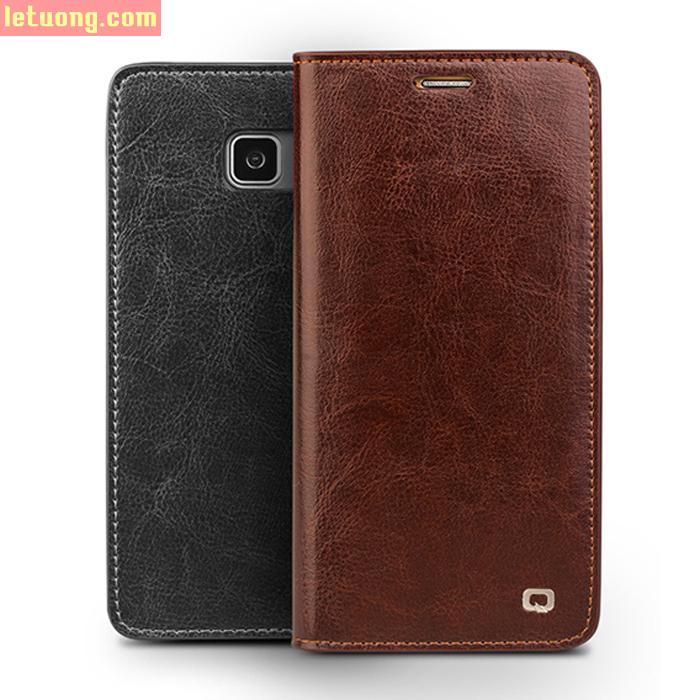 Bao da Galaxy Note 7 Qialino da thật Hanmade sang trọng