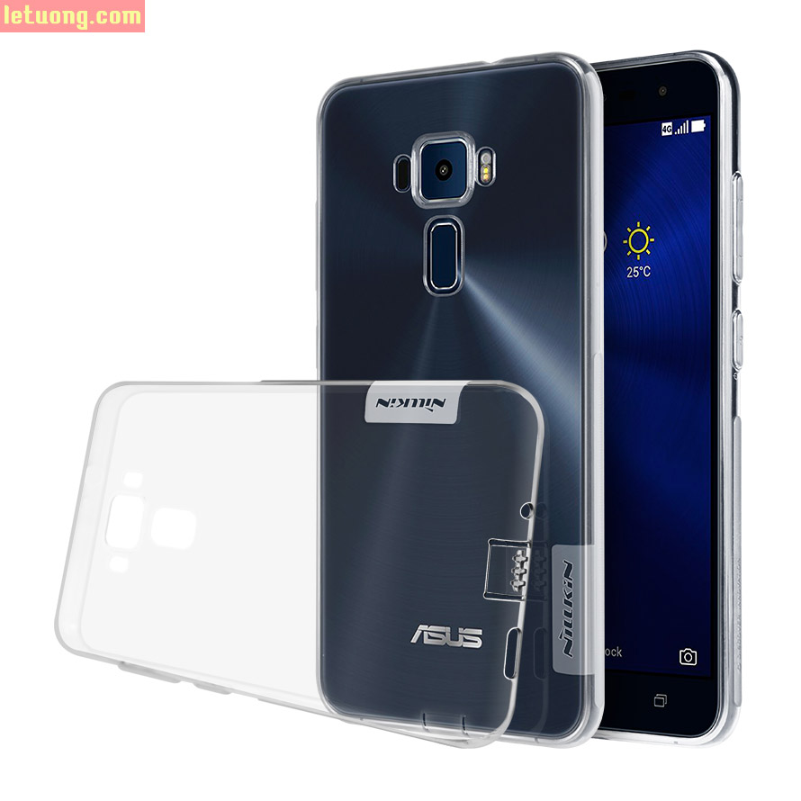 Ốp lưng Zenfone 3 5.2 Inch Nillkin nature TPU dẻo trong suốt