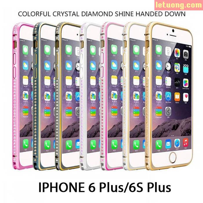 Ốp viền Iphone 6 Plus/6S Plus đính đá thời trang sang trọng