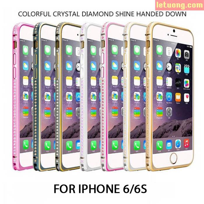 Ốp viền Iphone 6/6S Coteetci đính đá Swarosaki cao cấp