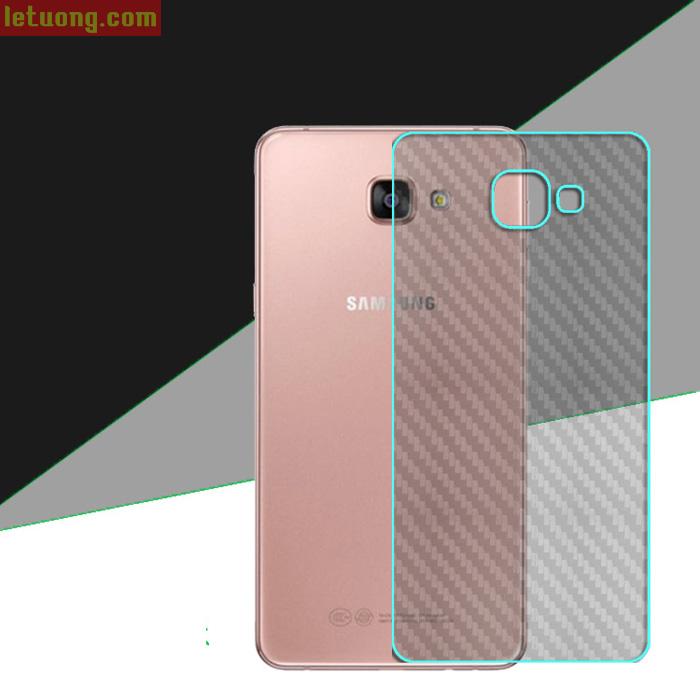 Miếng dán full mặt lưng Galaxy A7 2016 vân Carbon trong suốt
