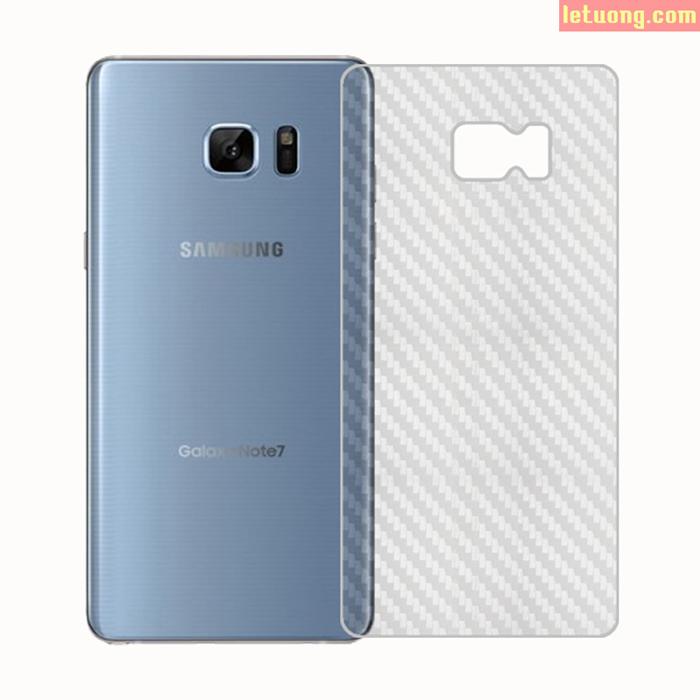 Miếng dán full màn hình Galaxy Note FE ( Note 7 ) vân Carbon trong suốt