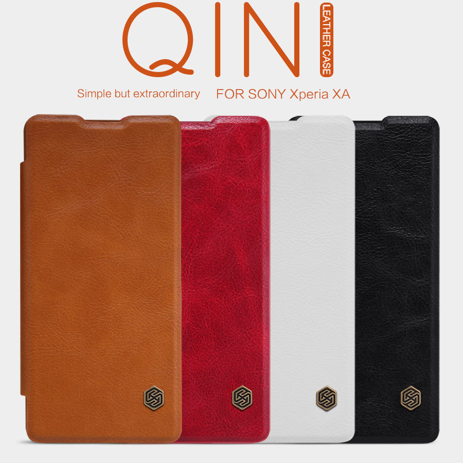 Bao da Sony XA Nillkin Qin Leather Case vân gỗ sang trọng