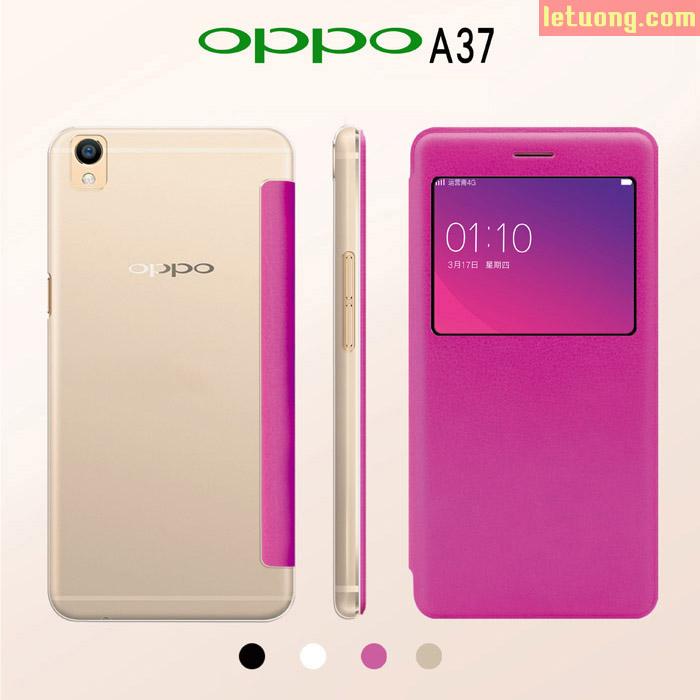 Bao da Oppo A37 Neo 9 Kacone View lưng trong màn hình tiện lợi