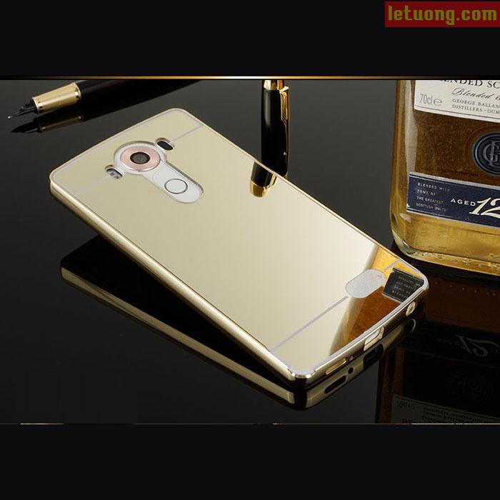 Ốp lưng LG V10 LT Metal 24K mạ bóng như gương sang trọng