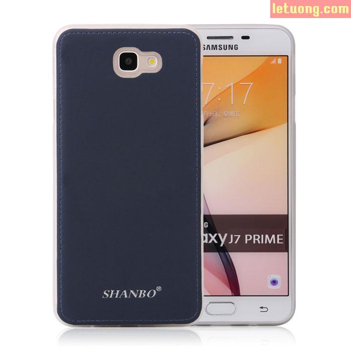 Ốp lưng Galaxy J7 Prime Shanbo Lưng Da sang trọng, chống sốc
