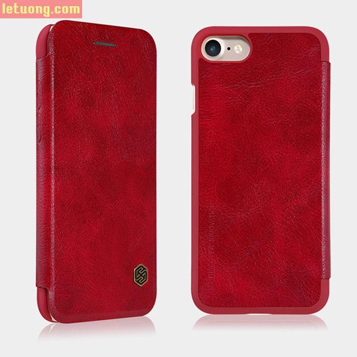 Bao da Iphone 8, Iphone 7 Nillkin Qin Leather sang trọng + kính cường lực