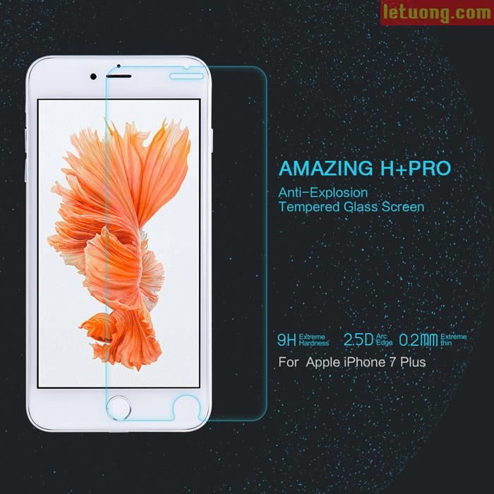 Kính cường lực Iphone 7 Plus, 8 Plus Nillkin Amazing H+ Pro mỏng 0,2mm