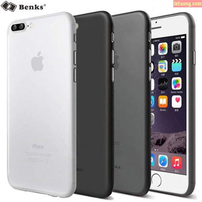 Ốp lưng Iphone 7 Plus, 8 Plus Benks Magic Lollipop 0,4mm 4g + kính cường lực
