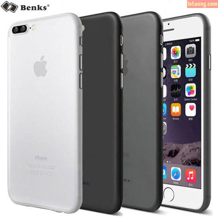 Ốp lưng Iphone 7 Plus, 8 Plus Benks Magic Lollipop 0,4mm 4g + kính cường lực
