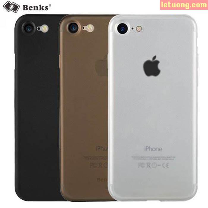 Ốp lưng Iphone 8, Iphone 7 Benks Magic Lollopop 0,4mm 4g + kính cường lực