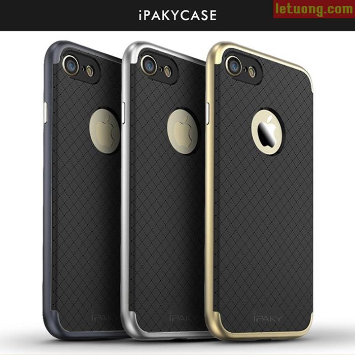 Ốp lưng Iphone 8, Iphone 7 Ipaky Case Hybrid 2 lớp + kính cường lực