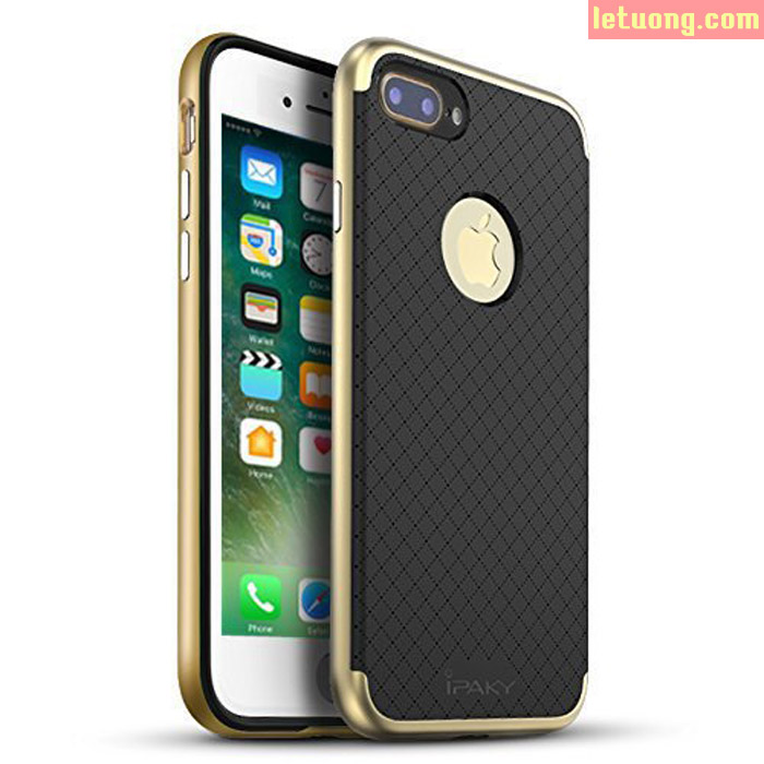 Ốp lưng Iphone 7 Plus, Iphone 8 Plus Ipaky Case neo Hybrid Caro + kính cường lực