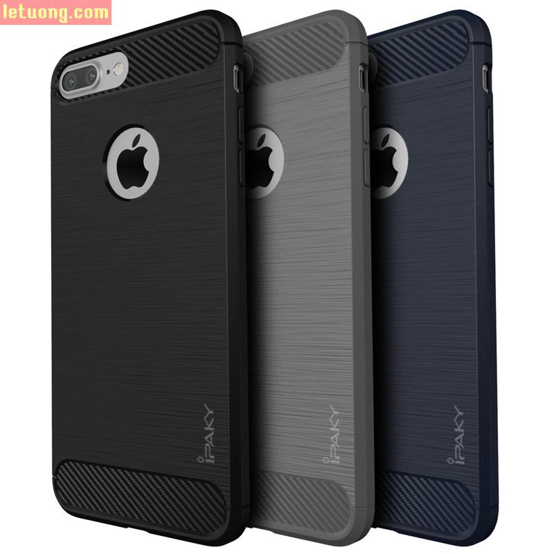 Ốp lưng Iphone 7 Plus, 7S Plus Ipaky Rugged Armor chống sốc + kính cường lực
