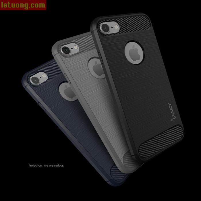 Ốp lưng Iphone 8, Iphone 7 Ipaky Rugged Armor chống sốc + kính cường lực