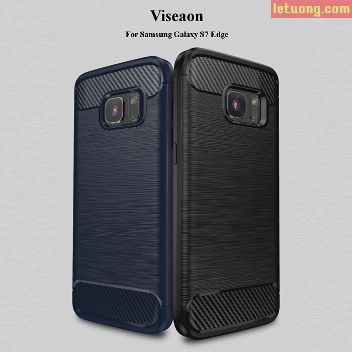 Ốp lưng Galaxy S7 Edge Viseaon Rugged Armor chống sốc nhựa mềm