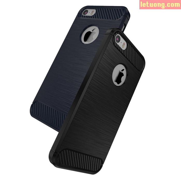 Ốp lưng Iphone 5/5S/SE Viseaon Rugged Armor + kính cường lực