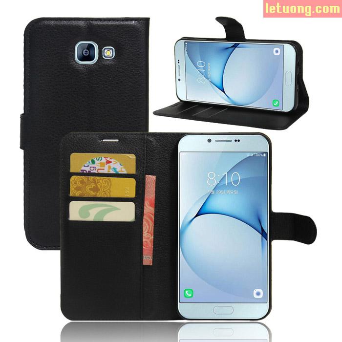 Bao da Galaxy A8 2016 LT Flip Wallet dạng ví đa năng khung nhựa mềm