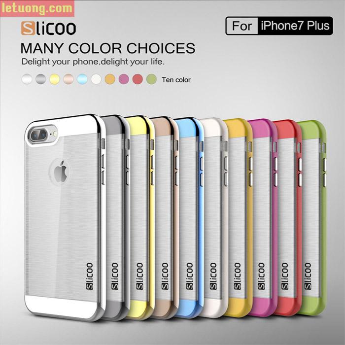 Ốp lưng Iphone 7 Plus, Iphone 8 Plus Slicoo Neo Hybrid Crystal + kính cường lực