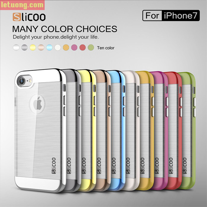 Ốp lưng Iphone 8, Iphone 7 Slicoo Neo Hybrid Crystal + kính cường lực