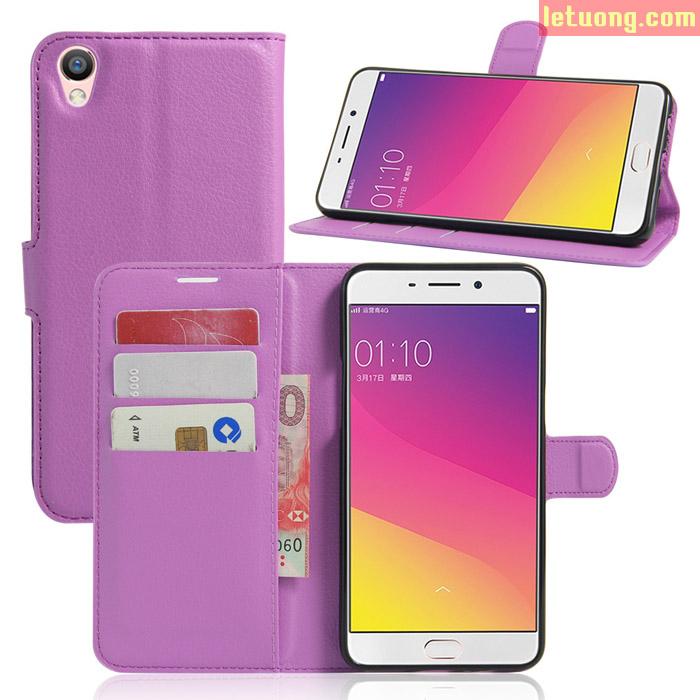 Bao da Oppo F1 Plus LT Flip Wallet ngăn ví đựng tiền, khung nhựa mềm
