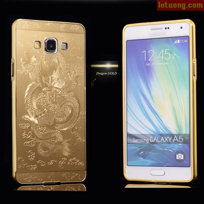Ốp lưng Galaxy A5LT Metal 24K in rồng 3D sang trọng đẳng cấp
