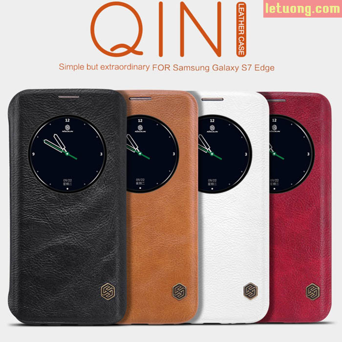 Bao da Galaxy S7 Edge Nillkin Qin Lether View tiện lợi sang trọng