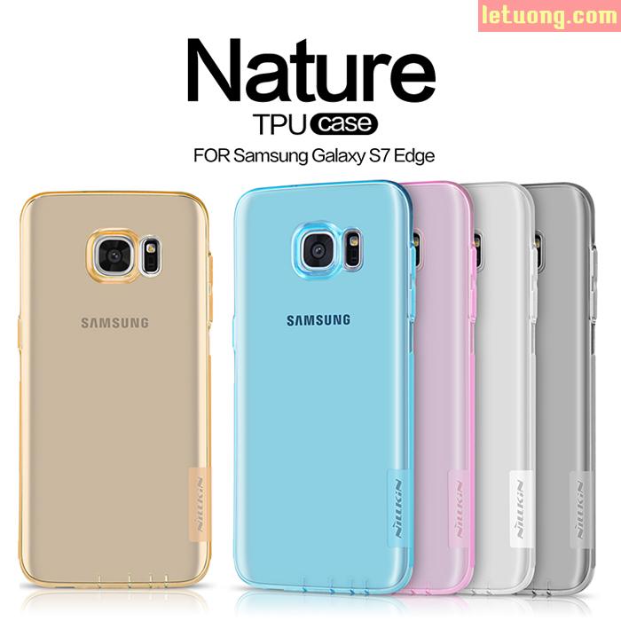 Ôp lưng Galaxy S7 Edge Nillkin Nature trong suốt nhựa mềm 0,6mm