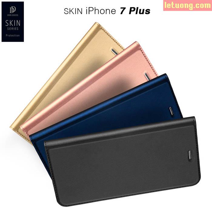 Bao da Iphone 7 Plus, Iphone 8 Plus DUX DUICS Skin siêu mỏng khung mềm chống sốc