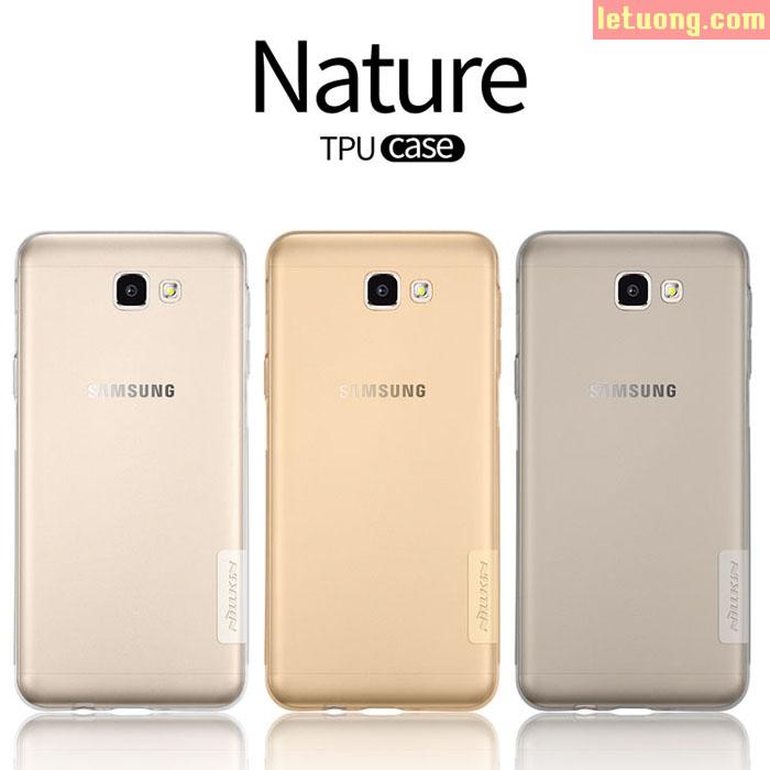 Ốp lưng Galaxy J7 Prime Nillkin Nature nhựa mềm trong suốt mỏng 0,6mm