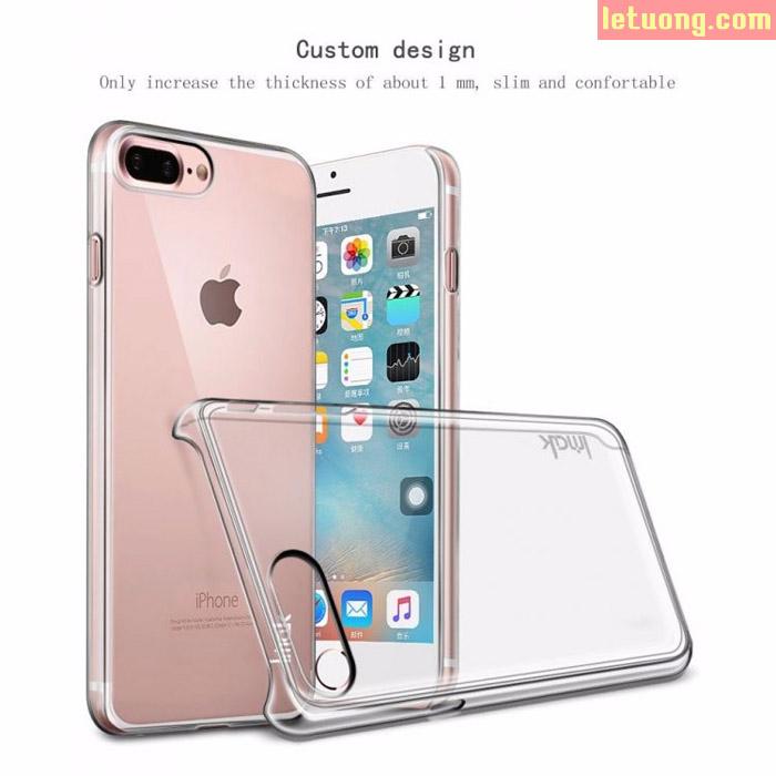 Ốp lưng Iphone 7 Plus, Iphone 8 Plus Imak Nano trong suốt mỏng, không ố vàng